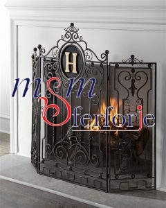 011 Wrought Iron Fireplace Cover Set