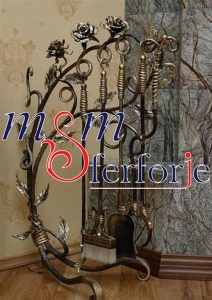 013 Wrought Iron Fireplace Cover Set
