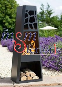 015 Wrought Iron Fireplace Cover Set