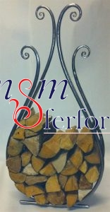 016 Wrought Iron Fireplace Cover Set