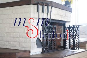 023 Wrought Iron Fireplace Cover Set