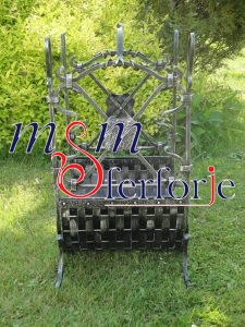 021 Wrought Iron Fireplace Cover Set