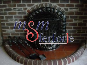 025 Wrought Iron Fireplace Cover Set