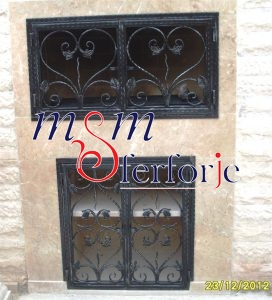 026 Wrought Iron Fireplace Cover Set