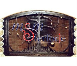 030 Wrought Iron Fireplace Cover Set
