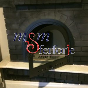 033 Wrought Iron Fireplace Cover Set