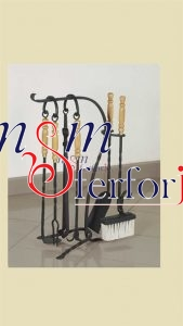 035 Wrought Iron Fireplace Cover Set