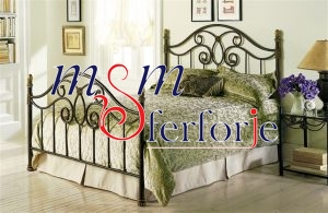 001 Wrought Iron Bed Head